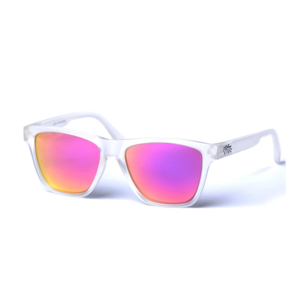 pitcha toper sunglasses transparent white pink