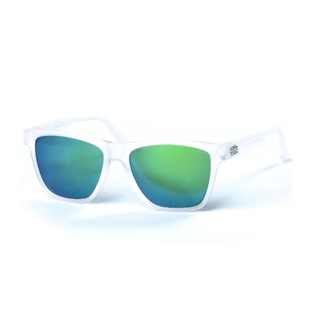 pitcha toper sunglasses transparent white green