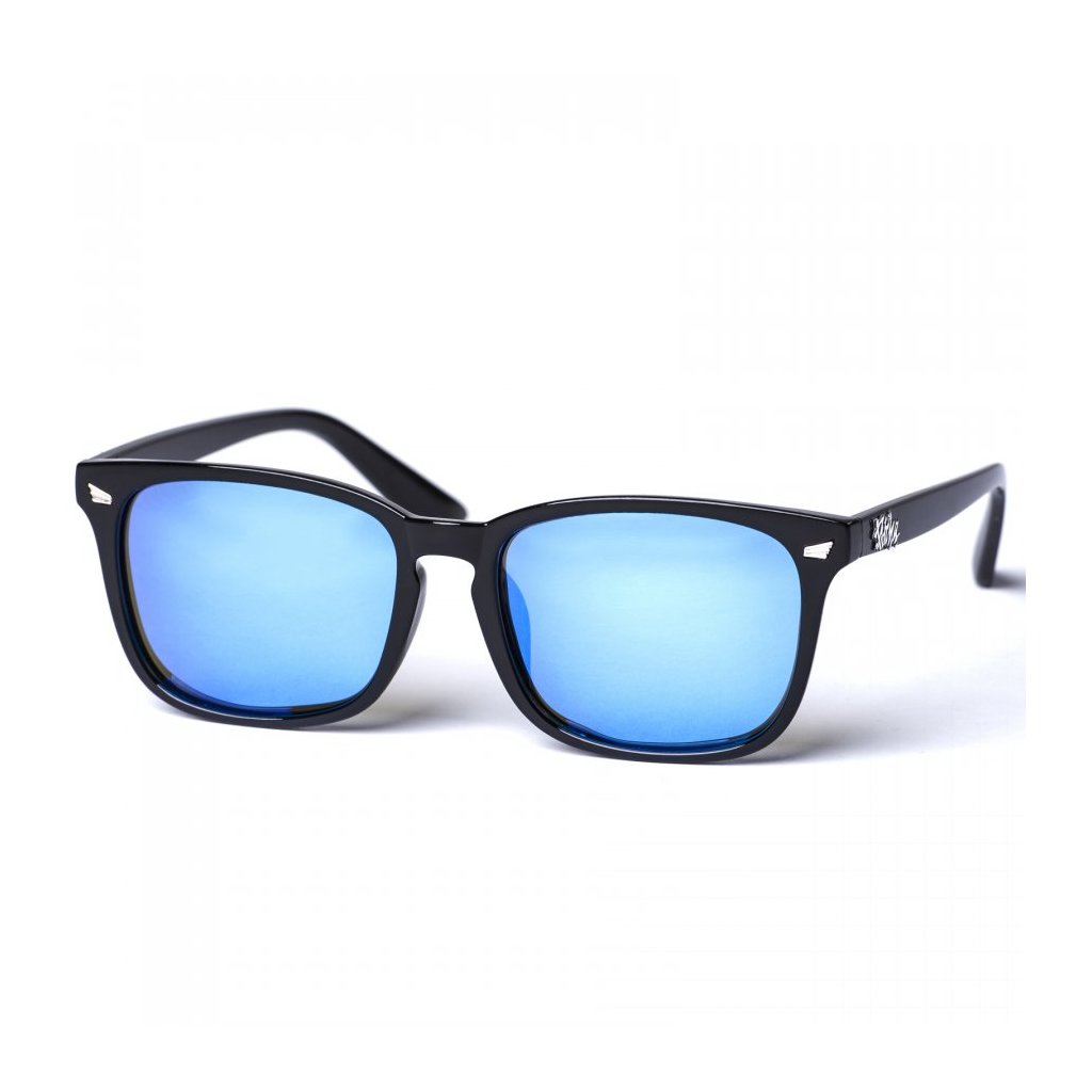 pitcha degent sunglasses bright black blue