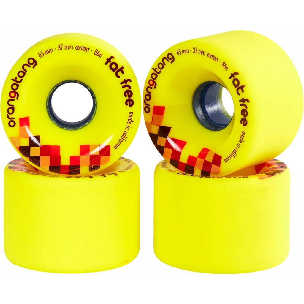 orangatang fat free 65mm longboard wheels 4 pack wv