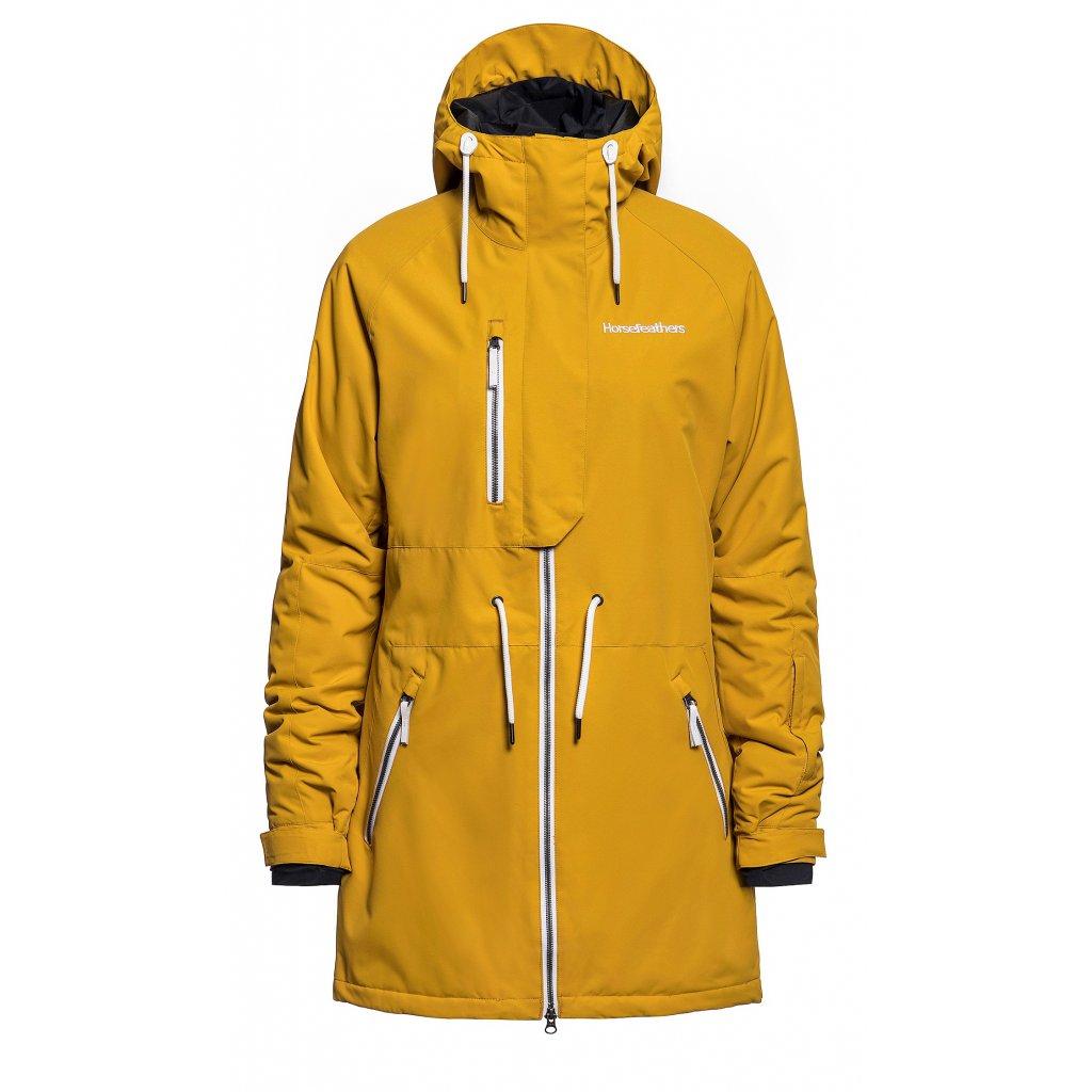 horsefeathers damska zimni bunda kassia jacket golden yellow 20 21