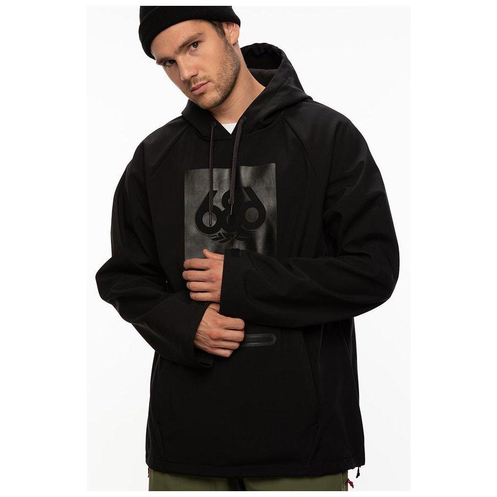 686 mikina waterproof hoody black 20 21