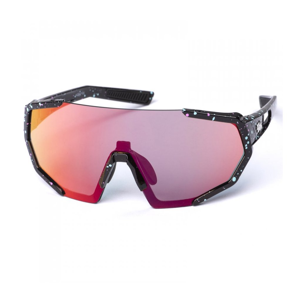 pitcha space r sunglasses black spot red