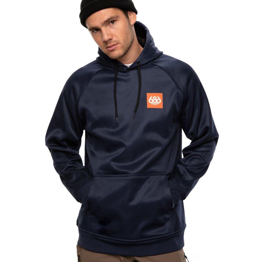 686 mikina bonded flc pullover hoody navy 2021