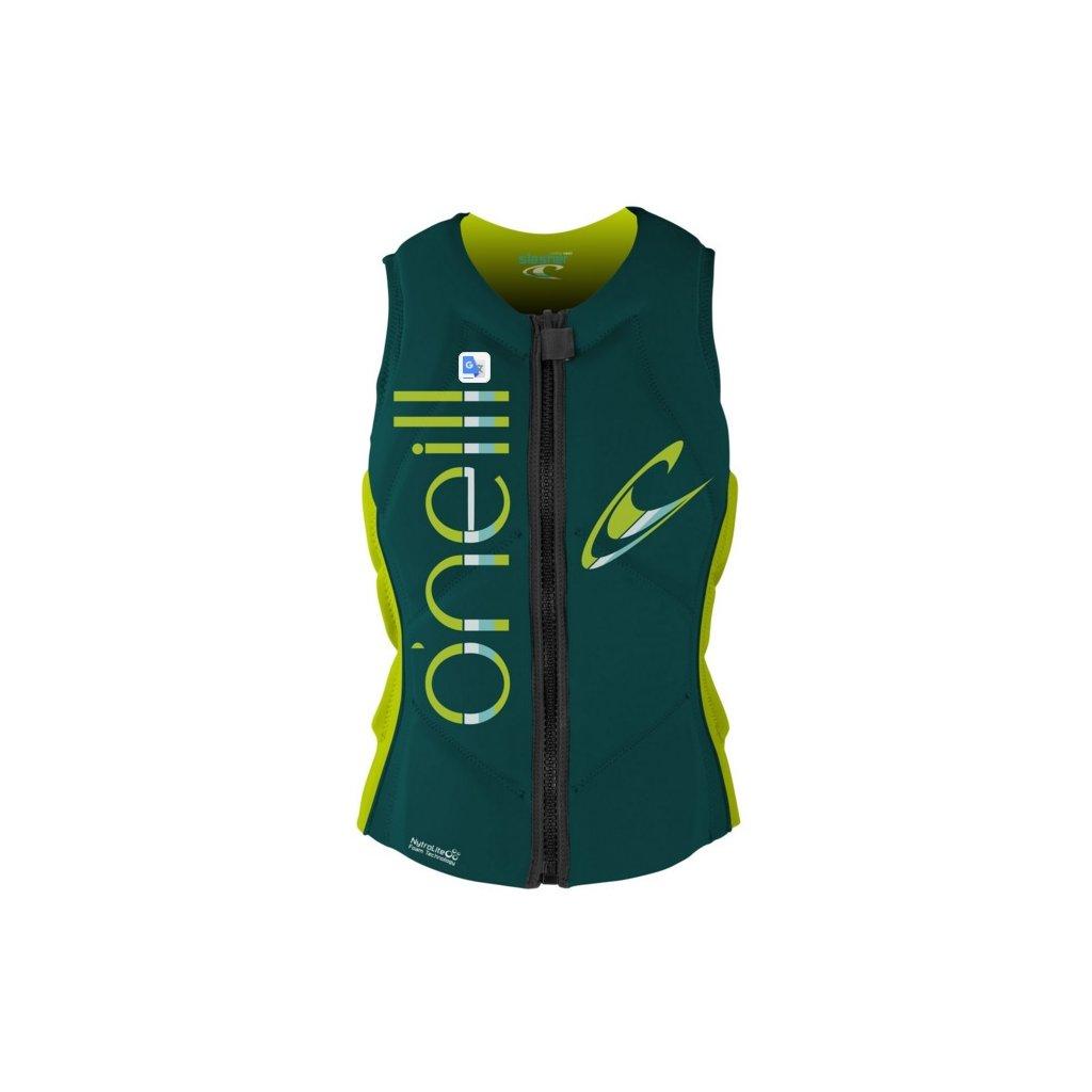 O'Neill vesta Wms Slasher Comp Vest deep teal/lime  + doručení do 24 hod.