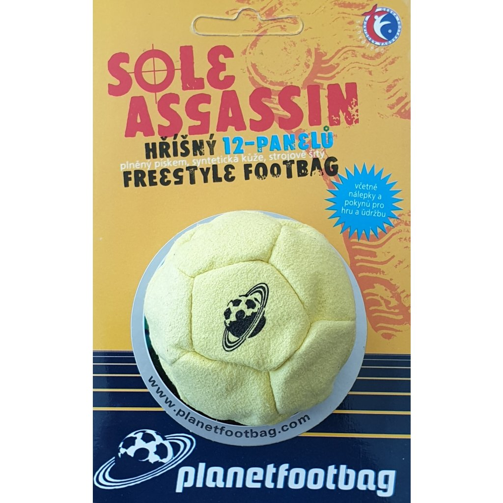 planetfootbag footbag hakisak sole assassin yellow