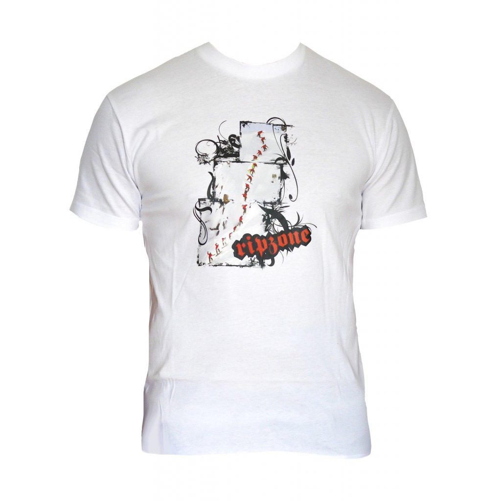 Ripzone tričko Snowboarding white