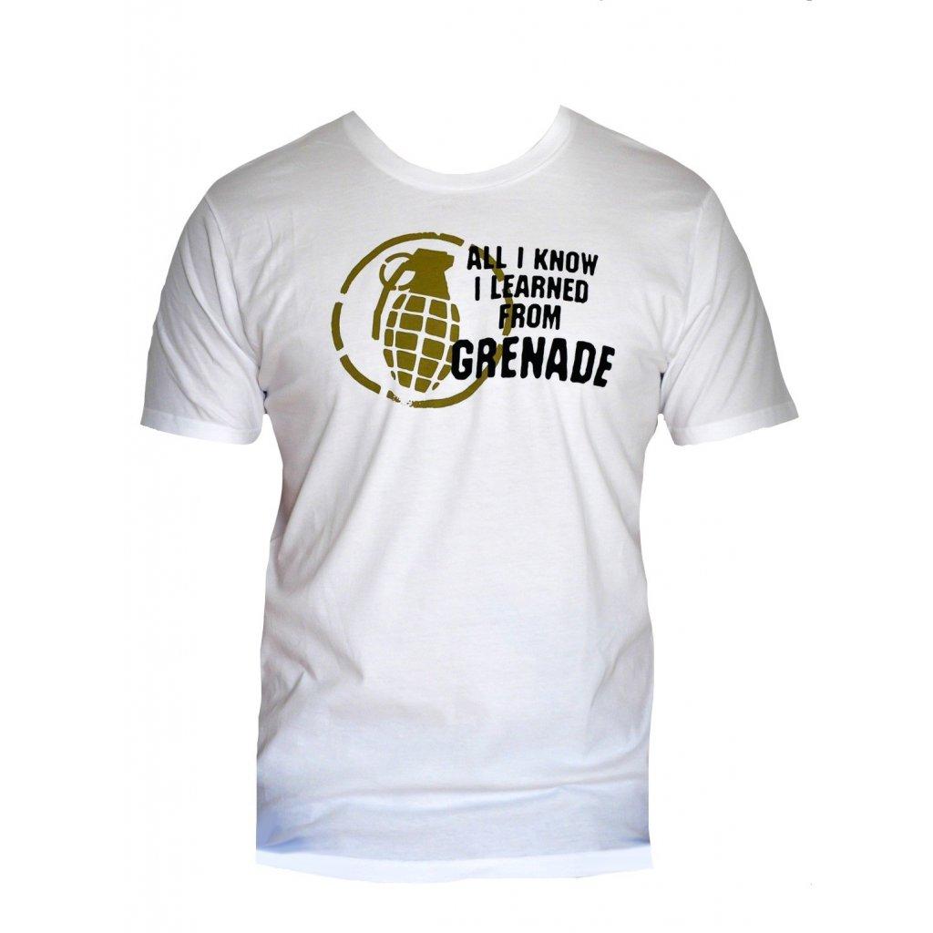 Grenade tričko Educator white