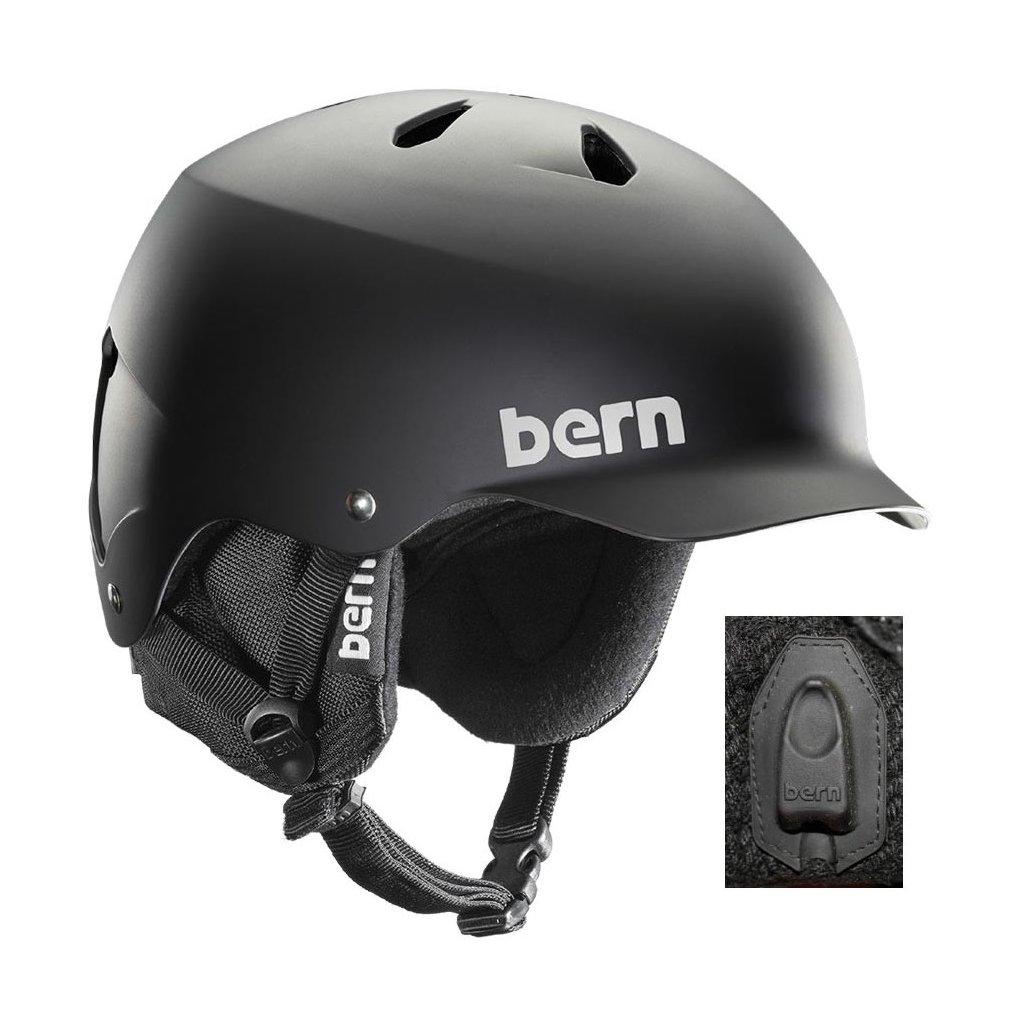bb846bd05b Bern zimní helma Watts 8Tracks audio matte black 18 19 + doručení do 24  hod. - Exilshop.cz