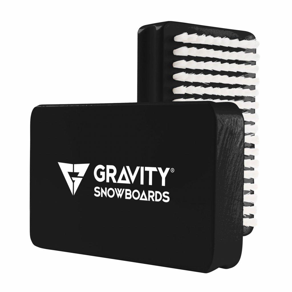 Gravity kartáč Wax brush black/white 17/18
