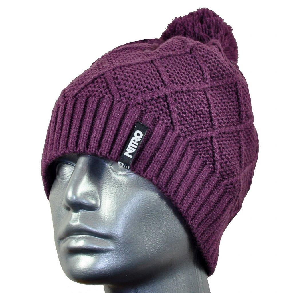 Nitro zimní čepice JETT HAT purple