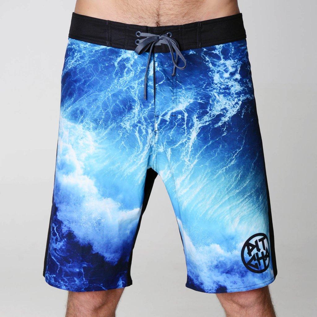 Pitcha šortky SPLASHER BOARDSHORT plavky Black/Blue  + doručení do 24 hod.