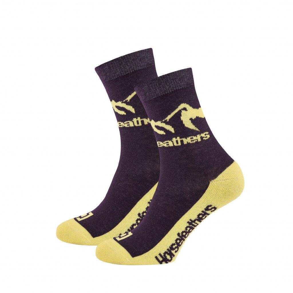 Horsefeathers ponožky Monta socks grape 18/19