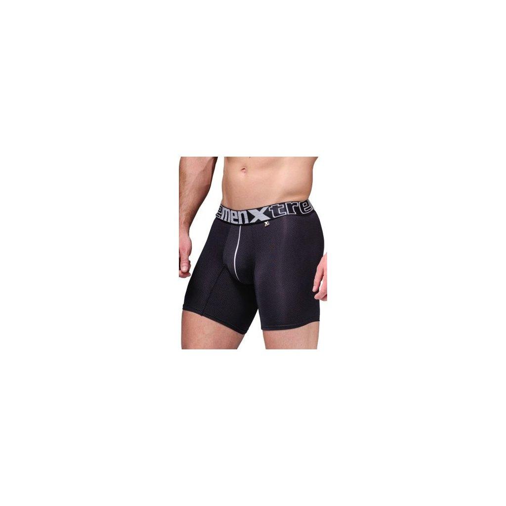 Pánské boxerky Xtremen Microfiber Boxer Miniprint Black