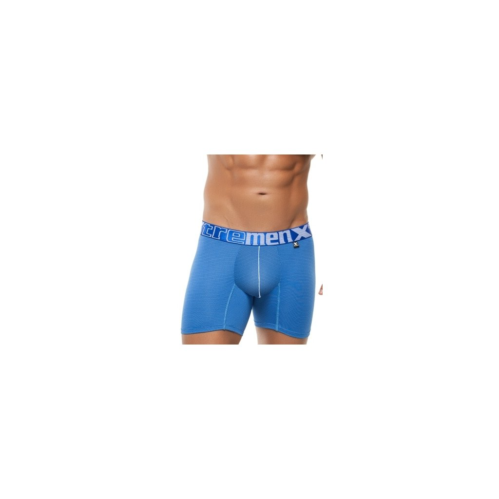 Pánské boxerky Xtremen Microfiber Boxer Miniprint Light Blue