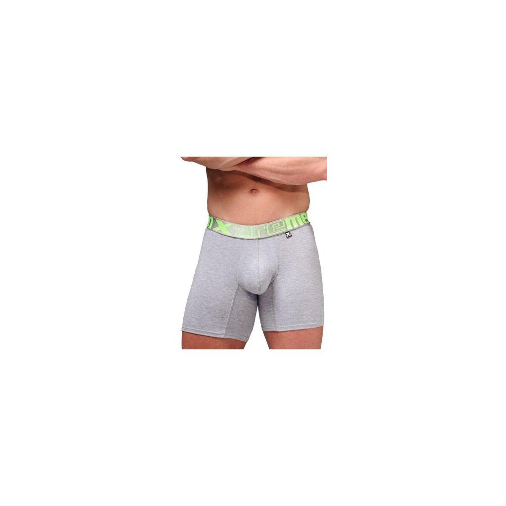 Pánské boxerky Xtremen Long Boxer Gray Jade