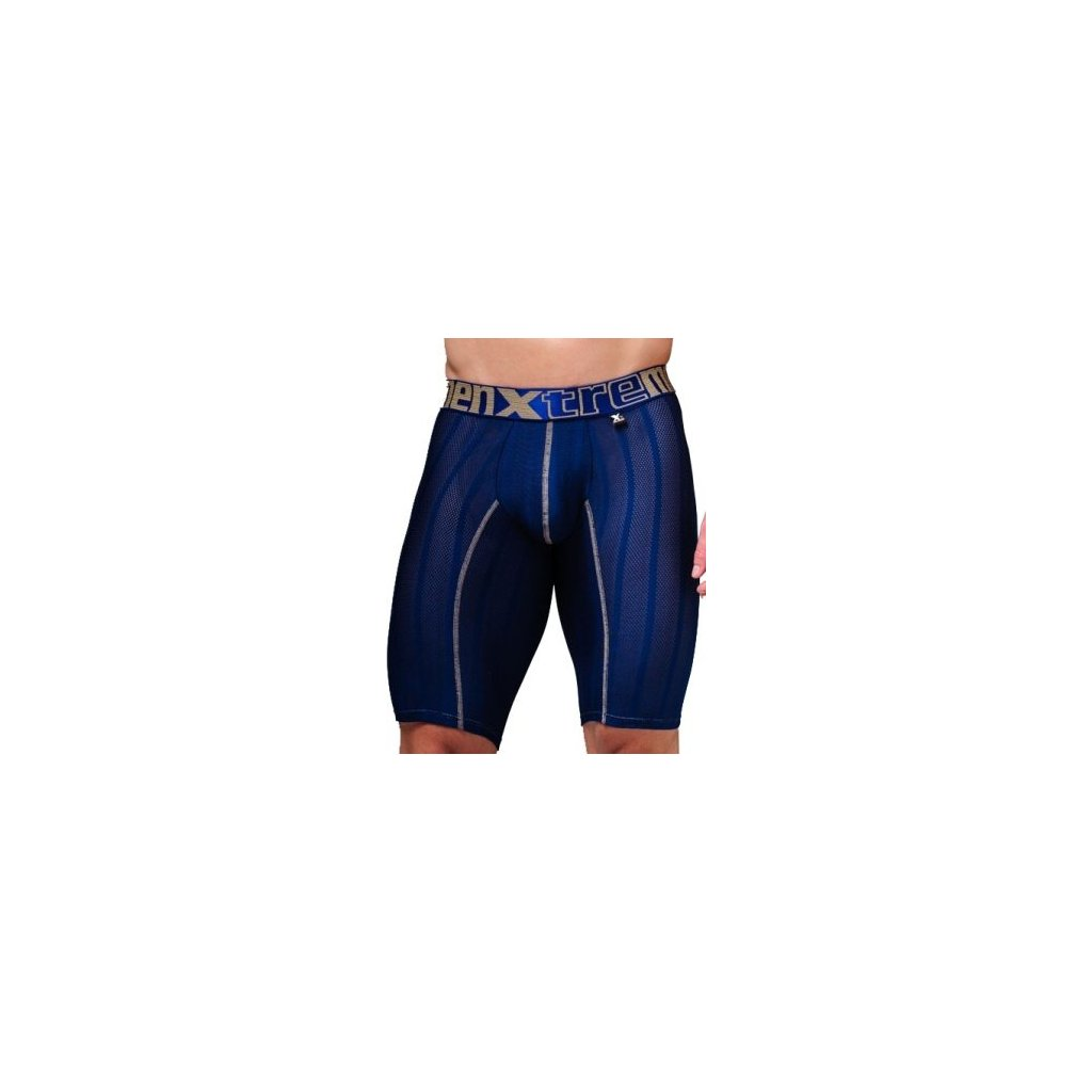 Pánské boxerky Xtremen Sports Boxer Perforated Dark Blue