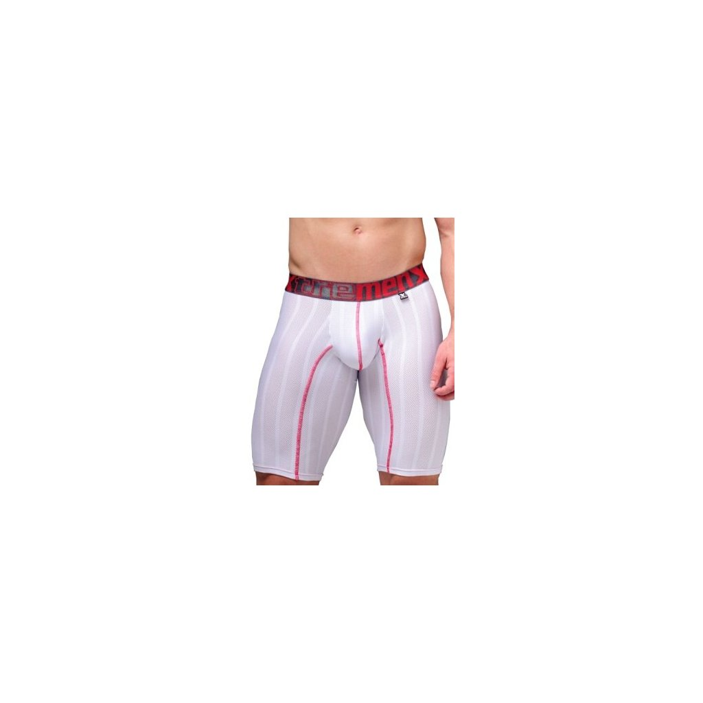 Pánské boxerky Xtremen Sports Boxer Perforated White Red