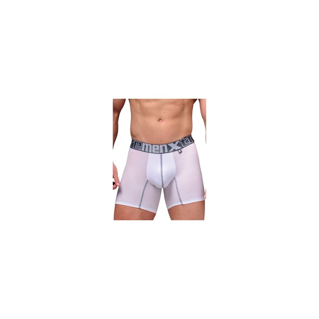 Pánské boxerky Xtremen Sports Boxer Perforated Mesh White