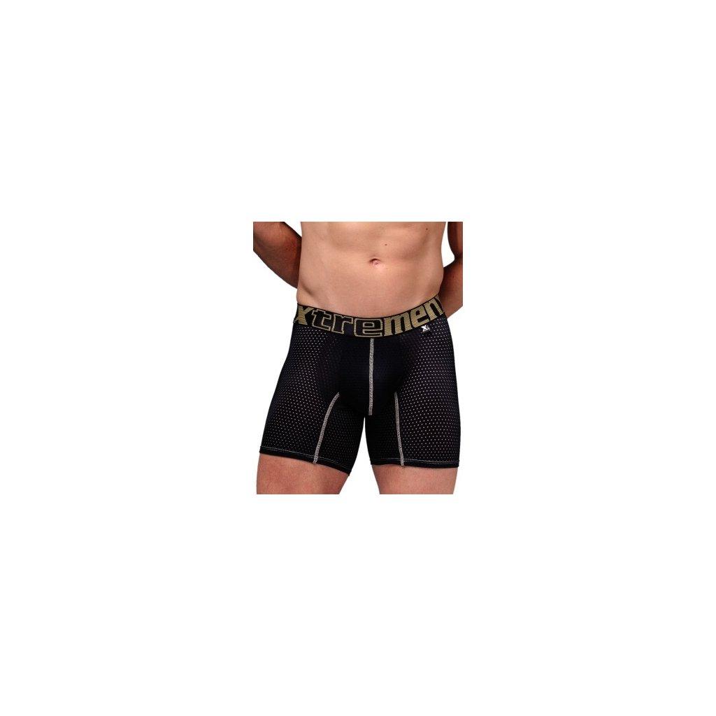 Pánské boxerky Xtremen Sports Boxer Perforated Mesh Black