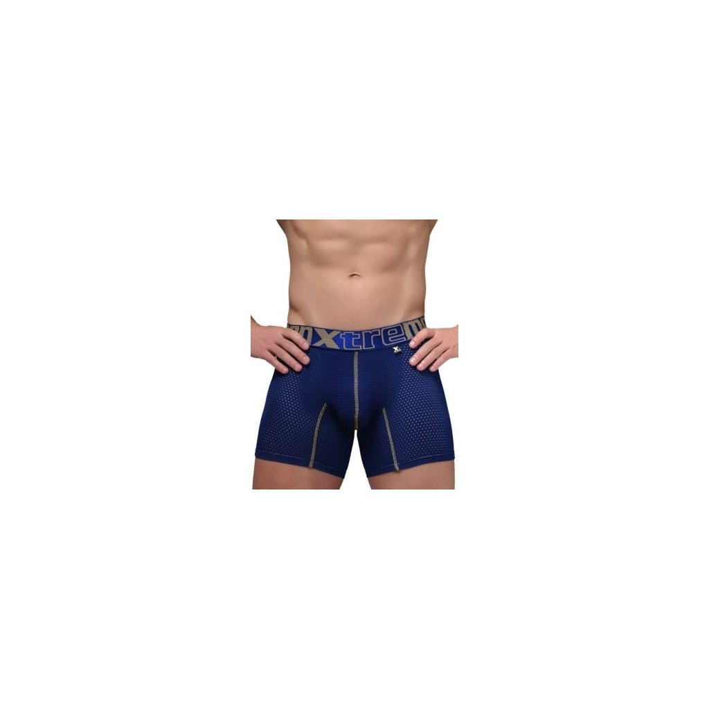 Pánské boxerky Xtremen Sports Boxer Perforated Mesh Dark Blue