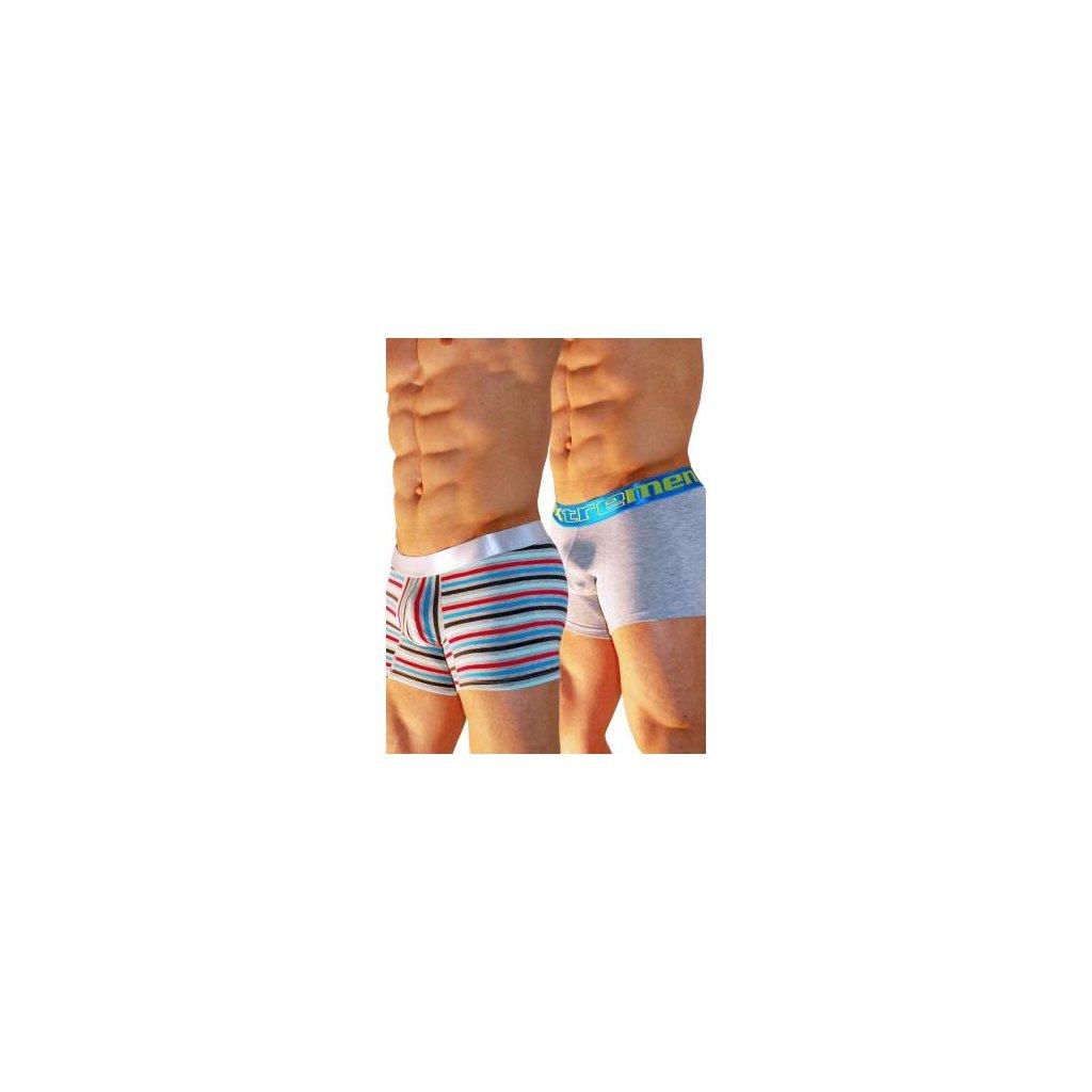 Pánské boxerky Xtremen 2 Pack Cotton Boxer ACh