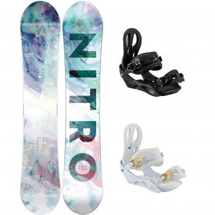 snowboard komplet damsky nitro Lectra black exilshop olomouc