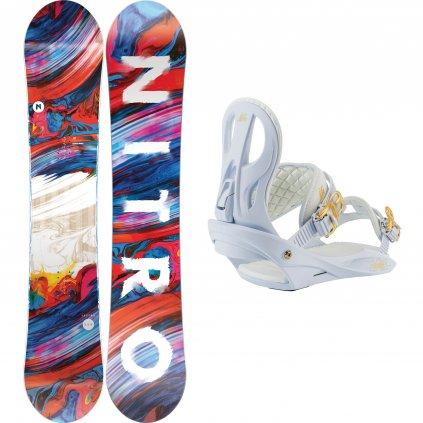 snowboard komplet damsky nitro Lectra white exilshop olomouc