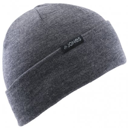 jones zimni cepice cortina beanie merino charcoal 19 20