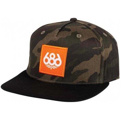 686 ksiltovka knockout snapback hat dark camo 19 20