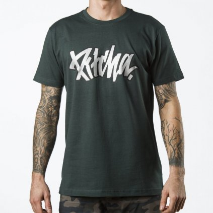 triko pitcha outliner tee bottlegreen silver