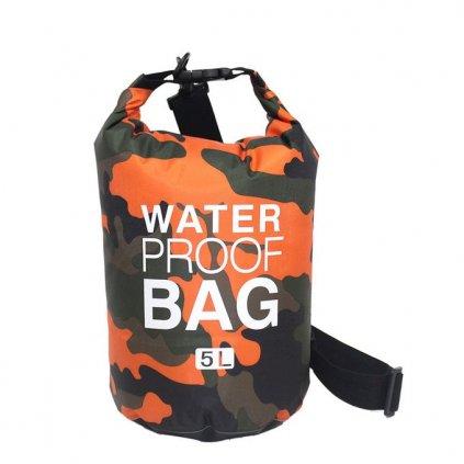 drybag lodni vak vodotesny camouflage orange 5l