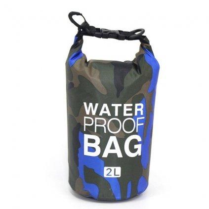 DryBag lodní vak vodotěsný Camouflage Blue 2L
