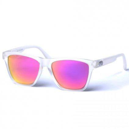 pitcha toper sunglasses transparent white pink