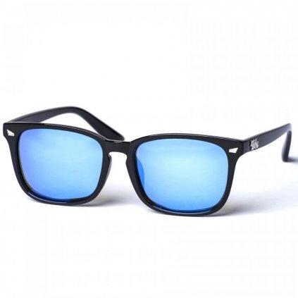 pitcha degent sunglasses bright black blue