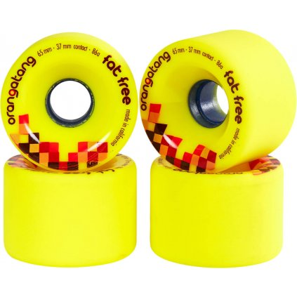 orangatang fat free 65mm longboard wheels 4 pack wv