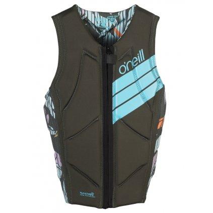 O'Neill vesta Wms Slasher Comp Vest deep teal/lime  + doprava zdarma
