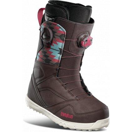 thirtytwo damske boty na snowboard stw double boa brown 20 21