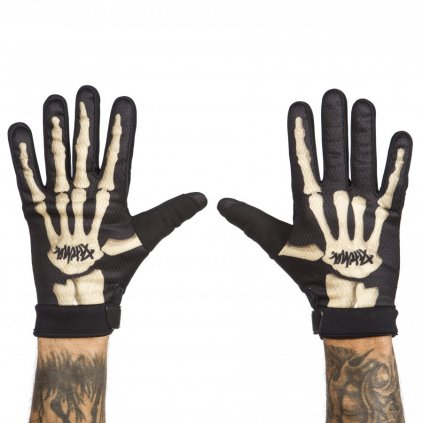 rukavice pitcha team gloves skeleton
