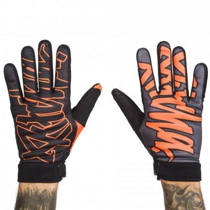 rukavice pitcha team gloves black orange