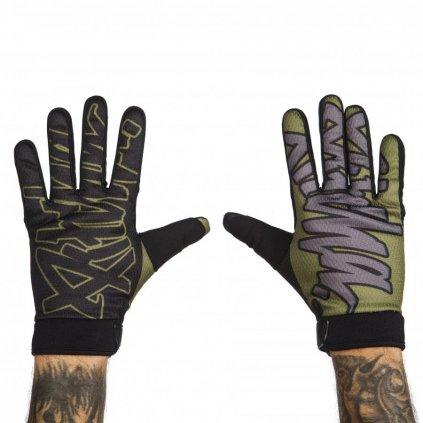 rukavice pitcha team gloves black army