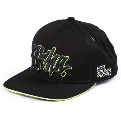 ksiltovka pitcha fsp snapback hat black fluo