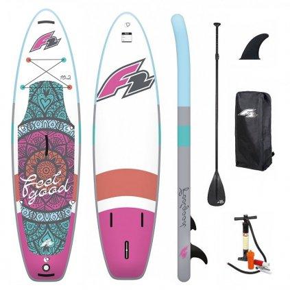 paddleboard f2 feelgood pink 10 2 exilshop olomouc
