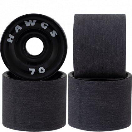 hawgs supreme 70mm 78a black longboard wheels