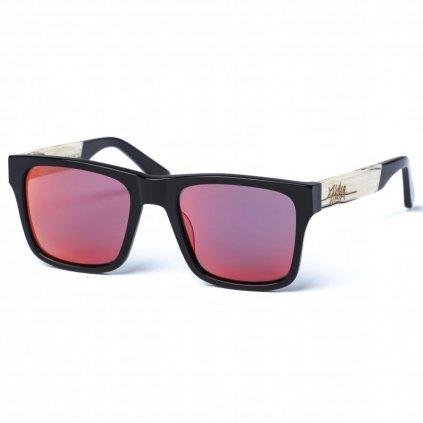 pitcha maasai iv sunglasses black red white zebra