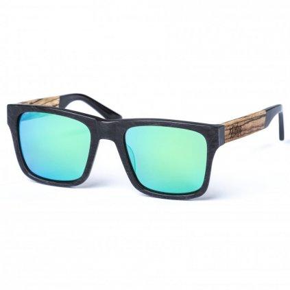 pitcha maasai iv sunglasses carbonize green zebra