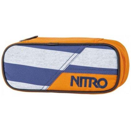 NITRO PENÁL PENCIL CASE heather stripe