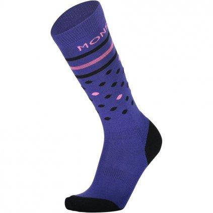 Mons Roayale podkolenky merino Lift Access Sock Ultra Blue Pink  + doručení do 24 hod.