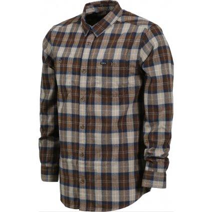 RVCA košile Bone Dark Khaki