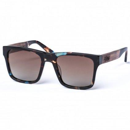 pitcha maasai iv sunglasses blue tortoise brown rosewood